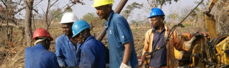 Kanyika Drilling Crew, courtesy of Globe Metals & Mining
