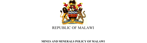 Mines and Minerals Policy of Malawi 2013