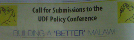 2013-05-10 UDF Call for Submissions to UDF Policy Conference Headline