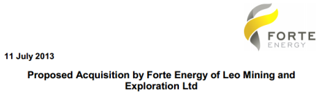 Forte Energy Acquisition
