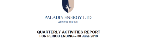 Paladin Quarterly Activities Report