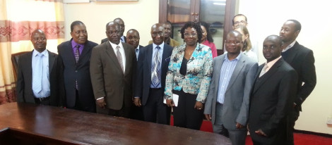 Malawian delegation with Sengal's Minister of Mines and Mineral