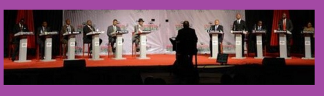 Second round of presidential debates, Lilongwe, 29 April 2014 (Image courtesy of Nyasa Times)