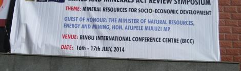 Mines and Minerals Act Review Symposium, Bingu International Conference Centre, Lilongwe (16-17 July 2014)