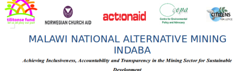 2014-11 Malawi National Alternative Mining Indaba