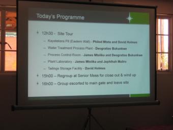 Programme of Kayelekera Uranium Project Mine Visit 2