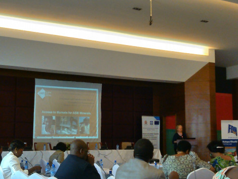 Karen Hayes, Director of Mines to Markets, Pact International presents on ASM access to markets, Day 2, 12 November 2014, Lilongwe