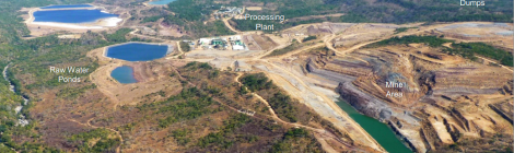 Kayelekera Mine Site Layout (Image taken from Paladin Africa presentation at Extraordinary DEC Meeting, Karonga, 28 October 2014)
