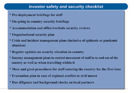 2015-02 Mining Review Investor safety and security checklist