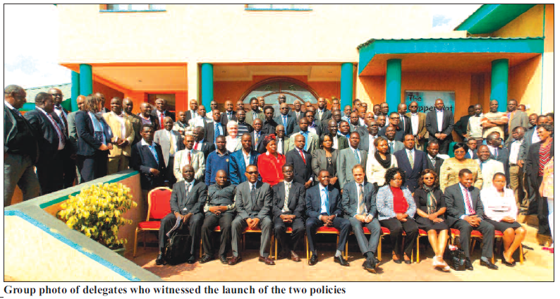 2015-07 Mining Review Group Photo Launch of Transport and Construction Policy Malawi