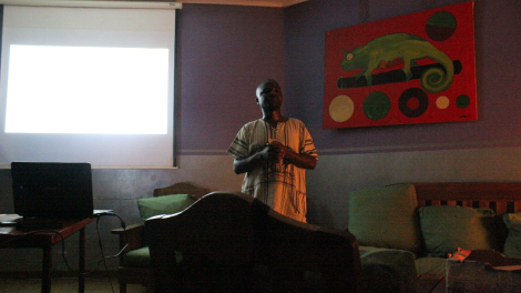 Godfrey Mfiti, Director of the Institute for Sustainable Development, gavea talk on Lake Malawi and oil exploration, 3 December 2015