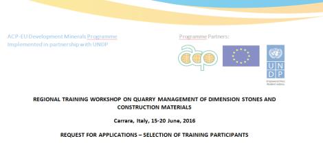 2016-03 ACP-EU Call for Applications on Regional Training