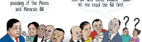 2016-06 Mining Review Cartoon James Kazembe Malawi's Mines Bill