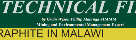 201608 Malawi Mining & Trade Review Technical File Grain Malunga Graphite in Malawi