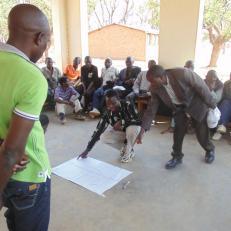 Group Village Headman Yesaya Shumba, YAACC, community members and government officials develop Forest Management Plan and by-laws