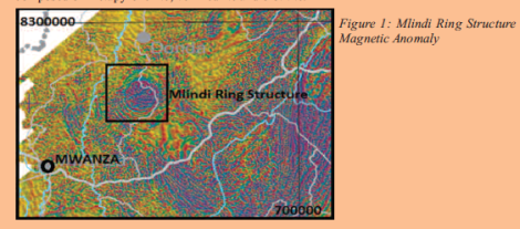 201708 Malawi Mining & Trade Review Grain Malunga Mlindi Ring Structure, Magnetic Anomaly