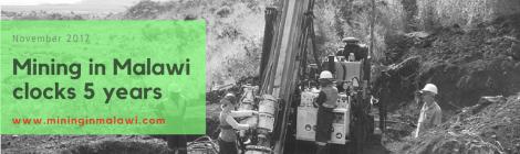 Mining in Malawi clocks 5 years