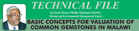 2015-07 Mining Review Technical File Grain Malunga Basic Concepts for Valuatiion of common gemstones in MW